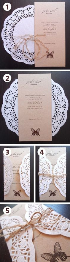 diy lace wedding invitation ideas