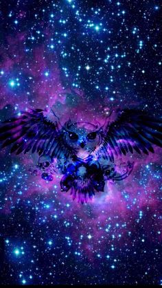 Owl Wallpaper, Cute Wallpaper Backgrounds, Pretty Wallpapers, Colorful Wallpaper, Galaxy Wallpaper, Dark Wallpaper, Galaxy Painting, Galaxy Art, Image Deco