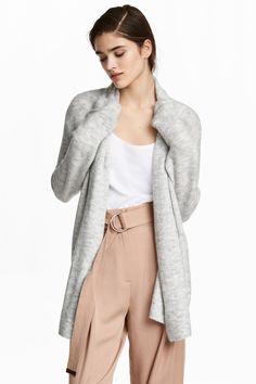 Cardigan cu guler-șal - Gri-deschis - FEMEI | H&M RO