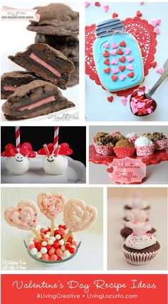 Great Dessert Ideas for Valentine's Day! #recipe #valentines