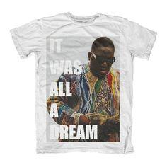 eb74d0e3e Biggie Smalls It Was All A Dream T Shirt Counting Cash Money Tee S M L XL  Hip Hop Rap Rapper Gangster Tupac Shakur Shot Dead One Influence