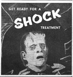 Vintage ad promoting the Shock Theater package for TV.