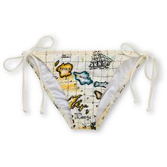 Billabong Girls Road Trip Ivory Penny Tie Side Bikini Bottom