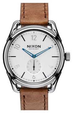 Nixon 'The C39' Leather Strap Watch, 39mm available at #Nordstrom