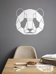 Panda Decal, Panda Wall Sticker, Geometric Animals, Geometric Panda, Panda…
