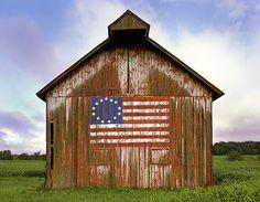 Barn...America - The United States of America - American Flag - Liberty…