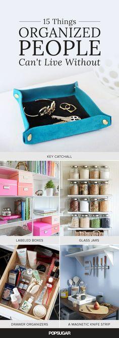 15 Things Organized People Have in Their Homes via POPSUGAR featuring #WorldMarket Glass Jars