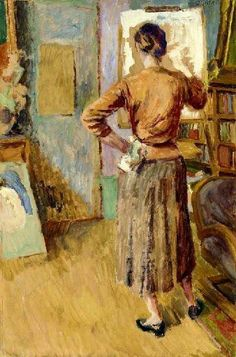 """""""Angelica painting"""" by Duncan Grant, 1955"""