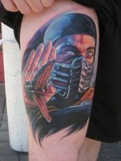Mortal Kombat Video Game Tattoo
