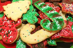Christmas Sugar Cookie Cut-Outs Christmas Sugar Cookies, Holiday Cookies, Gingerbread Cookies, Cookie Recipes, Dessert Recipes, Desserts, Holiday Recipes, Great Recipes, Christmas Cooking