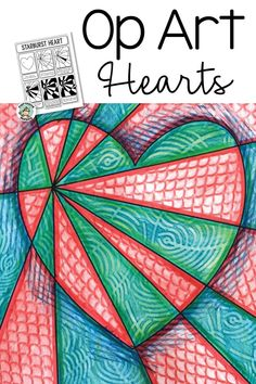 Create a show-stopping Valentine's Day art display with this Op Art Hearts art lesson! Op Art Lessons, Art Lessons Elementary, Middle School Art, Art School, Valentines Art Lessons, Paw Print Art, Spring Coloring Pages, Monkey Art, 6th Grade Art