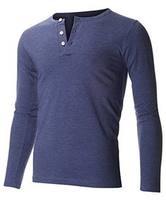 FLATSEVEN Men's Slim Fit Casual Long Sleeve Henley T Shirt (THL100) Blue, XL FLATSEVEN http://www.amazon.com/dp/B00VTOZL9G/ref=cm_sw_r_pi_dp_iRksvb19JN0JX