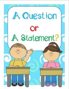 Question or Statement Unit {Signs, Activities, & Game} Kin Learning Resources, Teacher Resources, Classroom Resources, Classroom Ideas, Cooperative Learning, Student Learning, 1st Grade Writing, Meet The Teacher, First Grade