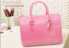 New 2014 Spring Korean Style Women Furly Candy Handbags Jelly Bag Designers Brand Colored Pillow Bags  $45.75