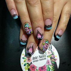 French Tip Nails, Cute Nail Designs, Cute Nails, Pedicure, Acrylic Nails, Lily, Nail Art, Beauty, Edgy Nails