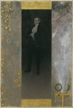 "Gustav Klimt | Belvedere Hofschauspieler Josef Lewinsky (1835-1907) als Carlos in ""Clavigo"" 1895"