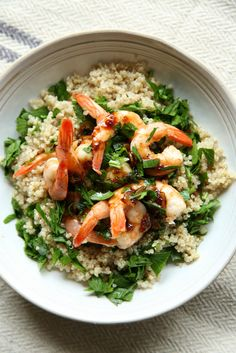 Balsamic-Glazed Shrimp with Quinoa