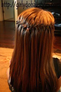 Girly Do Hairstyles: By Jenn: Water Fall Braids.