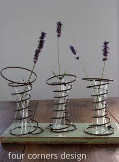 bed spring vases by Four Corners Design - cool!