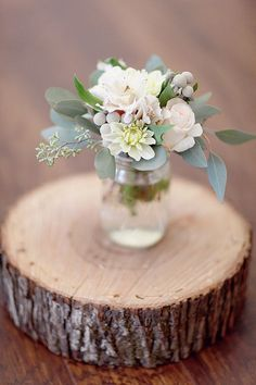 sage centerpiece | via Sage Wedding Ideas from…