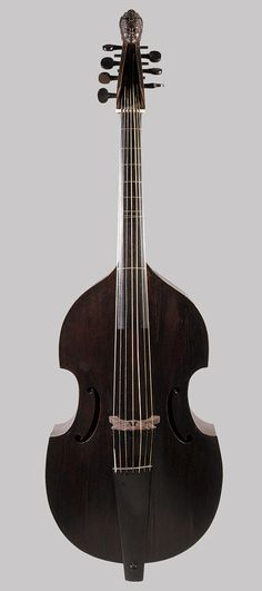 Seven String Bass Viol, 1720 Nicolas Bertrand (French, 1686–1735) Wood