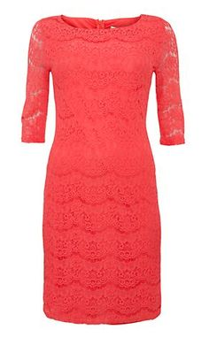 Coral 3/4 Sleeve Dress 2 @ New Look
