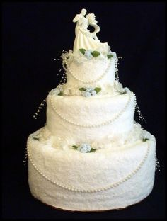 Towel Wedding Cake (Source: towelndiapercakes.com)