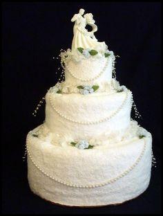 wedding cake made of towels | Towel Wedding Cake | Wedding Cakes
