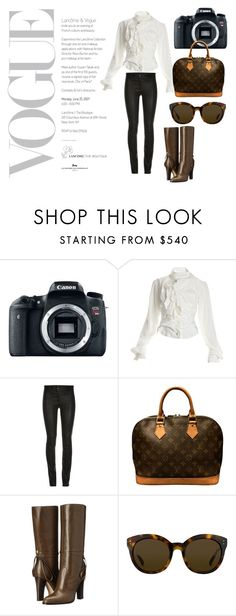 """VOUGE"" by fashionpolicecimrn80 on Polyvore featuring Eos, Vivienne Westwood, Louis Vuitton, SJP and Linda Farrow"
