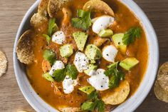 Mexican tomato and tortilla soup recipe, Bite – This flavoursome Mexican tomato and tortilla soup Sopa azteca is traditionally made with a dried pasilla chilli pepper and epazote a medicinally pungent Mexican herb We have substituted with readily available chipotle peppers and fresh coriander but you could also use oregano or lemon mint – bite.co.nz