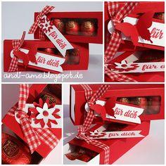 Schubladen-Box für Ostereier auf www.andi-amo.blogspot.de #stampin up #Stanz- und Falzbrett für Umschläge #EPB #Die kleinen Dinge #Framelits Tafelrunde #Stanze Dreierlei Blüten #Stanze Eleganter Schmetterling #Ostern