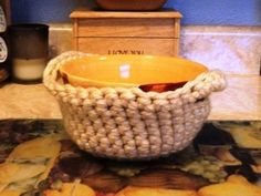 Bowl Covers for Hot or Cold with Pattern - CROCHET