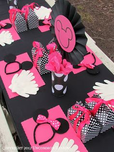 Cute party theme if you have a mickey or minnie fan
