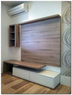 Ideas for living room tv wall apartment hallways Tv Cabinet Design, Tv Unit Design, Tv Wall Design, Pop Design, House Design, Design Ideas, Deco Tv, Laminate Flooring On Walls, Tv Wanddekor