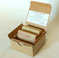 Shampoo Soap Gift Set (2 Full Size Bars) - Cherry Almond, Tea Tree and Mint Hair/body/beard Soaps - Perfect for Camping and Traveling - Handmade with all Natural / Organic Ingredients *** Don't get left behind, see this great outdoor item : Travel Skincare