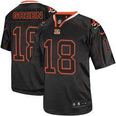 Nike NFL Elite Mens  Cincinnati Bengals Black #18 A.J. Green Lights Out  Jersey$129.99