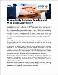 Dissimilarity Between Desktop and Web Based Application