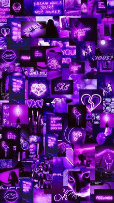 Retro Wallpaper Iphone, Neon Wallpaper, Aesthetic Iphone Wallpaper, Black Wallpaper, Aesthetic Wallpapers, Purple Wall Art, Purple Walls, Red Walls, Blue Aesthetic Pastel