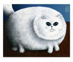 Fat Cat Print, Marlene Llanes