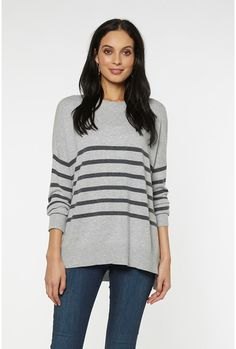 The comfiest way to stay warm this autumn. The Anna Cashmere Blend Crew Sweater has a crew neck and dropped shoulder in a cosy wool and cashmere blend. Stay Warm, Knitwear, Cashmere, Crew Neck, Anna, Tunic Tops, Pullover, Sweaters, Shopping