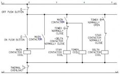 Star-Delta Motor Control Circuit