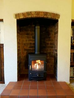 Clearview Pioneer 400 stove installation.