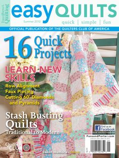 Easy Quilts Summer 2012 by New Track Media