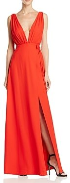 Aqua Sleeveless Deep V Wrap Dress