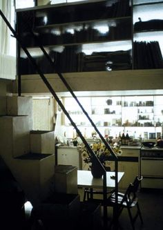 interior, Siedlung Halen, Bern, Switzerland, completed 1961. Architects: Atelier 5 - Edwin Fritz, Rolf Hesterberg, Samuel Gerber, Hans Hostettler + Alfredo Pini