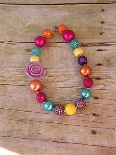 Spring+Rainbow+Chunky+bubblegum+necklace+by+PsCreation+on+Etsy,+$17.00