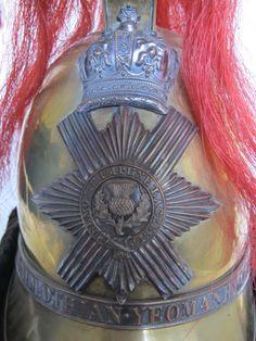British Royal Midlothian Yeomanry Cavalry Helmet (circa 1843 - 1860) | eBay British Army Uniform, Military Fashion, Volunteers, Sands, British Royals, Helmets, Headdress, Badges, Steampunk