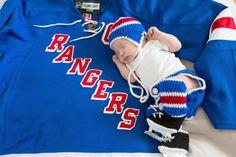 NEW YORK RANGERS Hockey Socks Helmet Hat  Diaper by Grandmabilt, $59.00