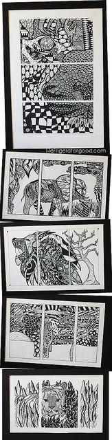 Zentangle Triptych- Gr.10