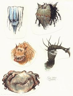 Monster concept drawings